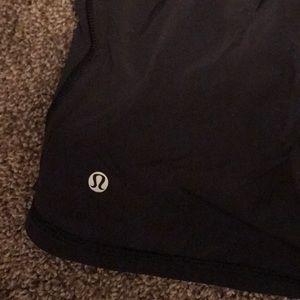 lululemon athletica Shorts - Lululemon black shorts with zipper